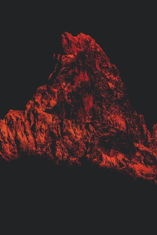 Photo of Red-Colored Mountain