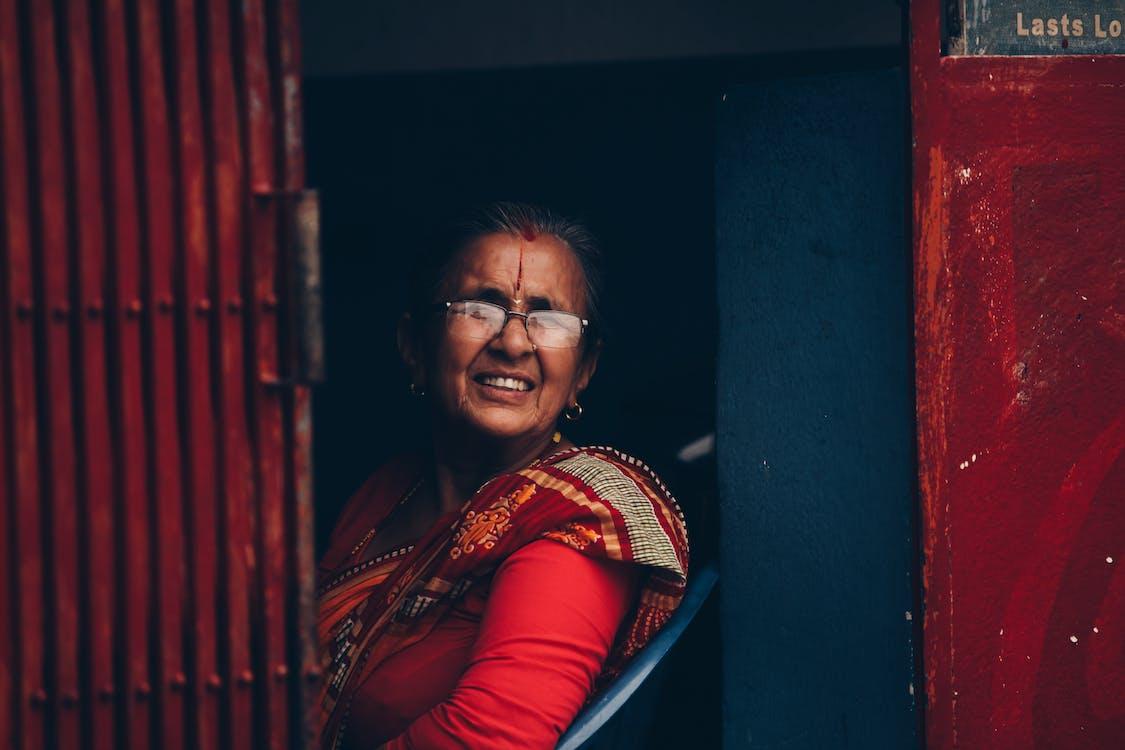 네팔, 미소, 아시아 여성