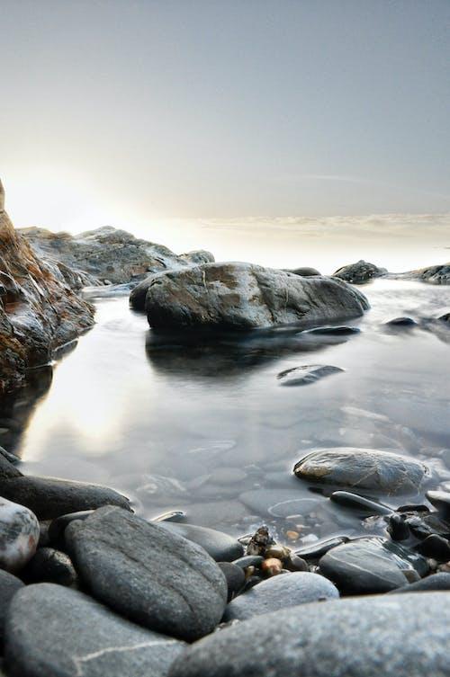 Základová fotografie zdarma na téma kameny, oblázky, obloha, svítání