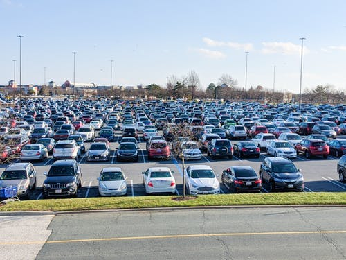 Free stock photo of cars, parking lot, Shopping Mall