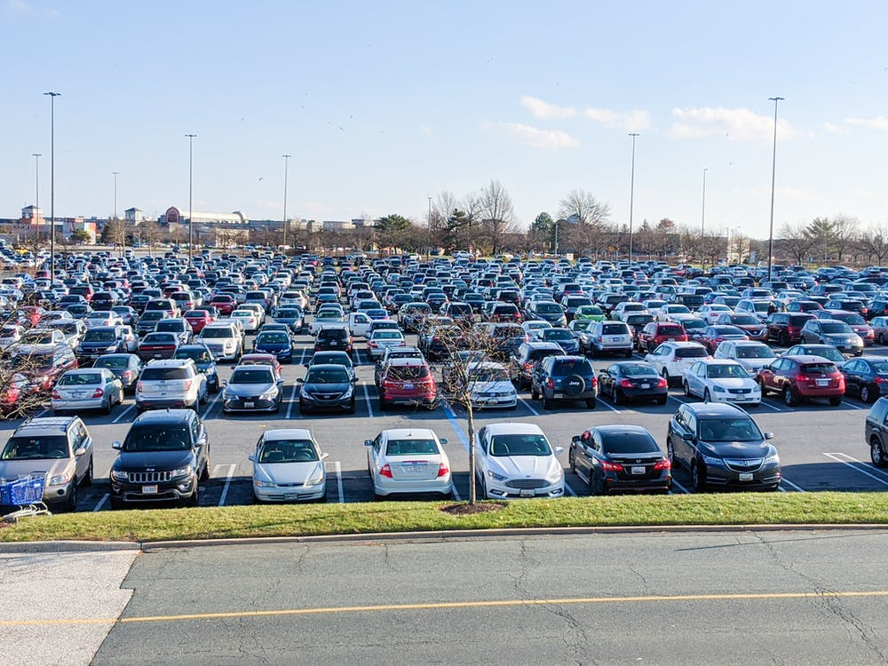 cars, parking lot, Shopping Mall