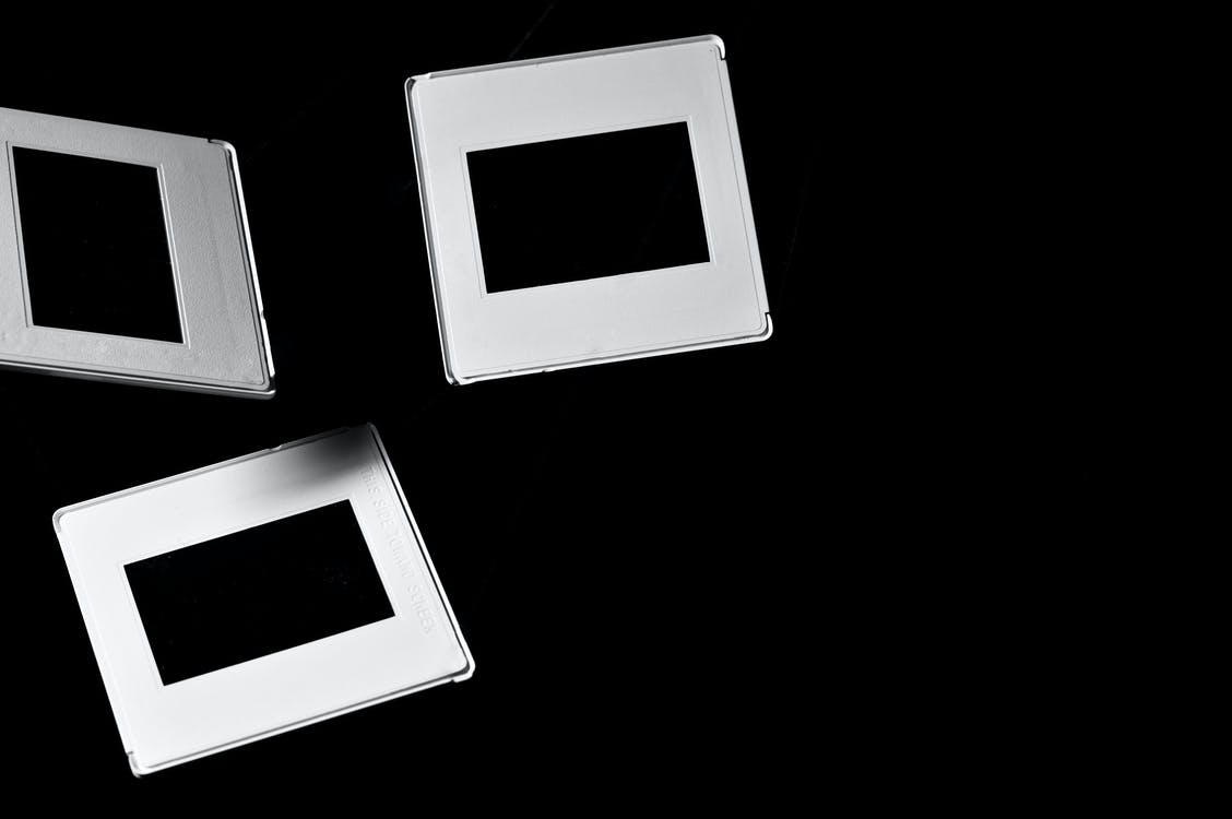 Three Square White Frames