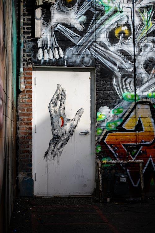 Gratis lagerfoto af dør, gade, gadekunst, graffiti