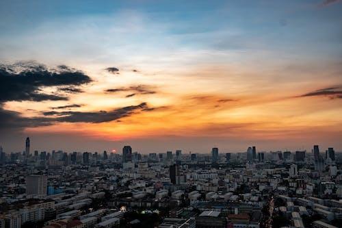 Free stock photo of cityscape, dusk, evening, panorama