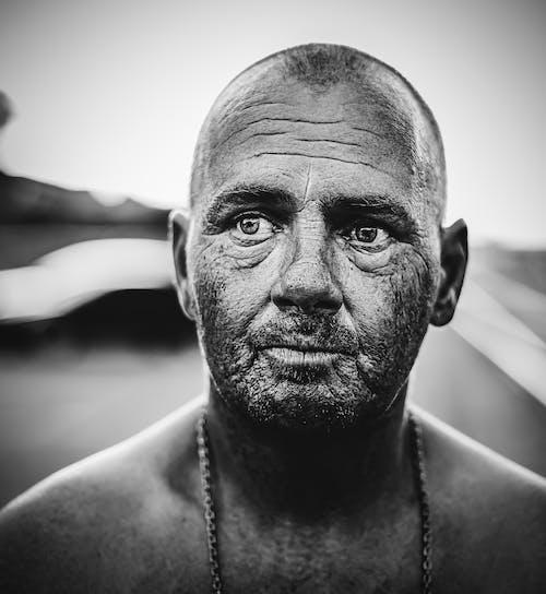 Ilmainen kuvapankkikuva tunnisteilla äärimmäinen lähikuva, iäkäs mies, iho, kadun muotokuva
