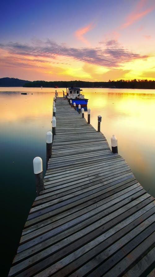 Gray Wooden Dock