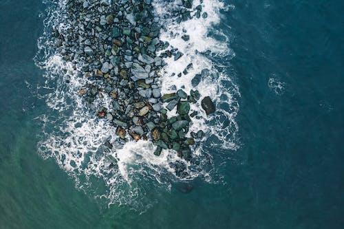 Základová fotografie zdarma na téma kameny, letecký, letecký snímek, moře