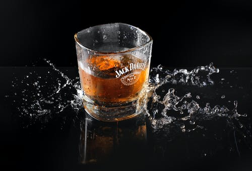 Jack Daniel-printed Drinking Glass