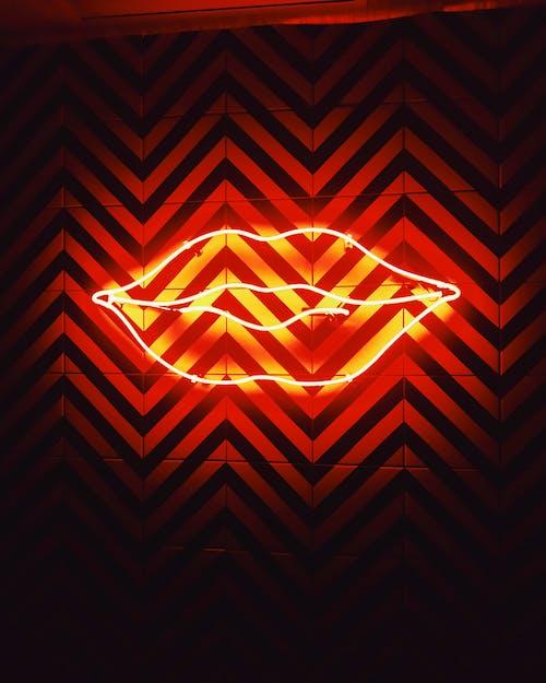 Lips Neon Signage Yang Diaktifkan