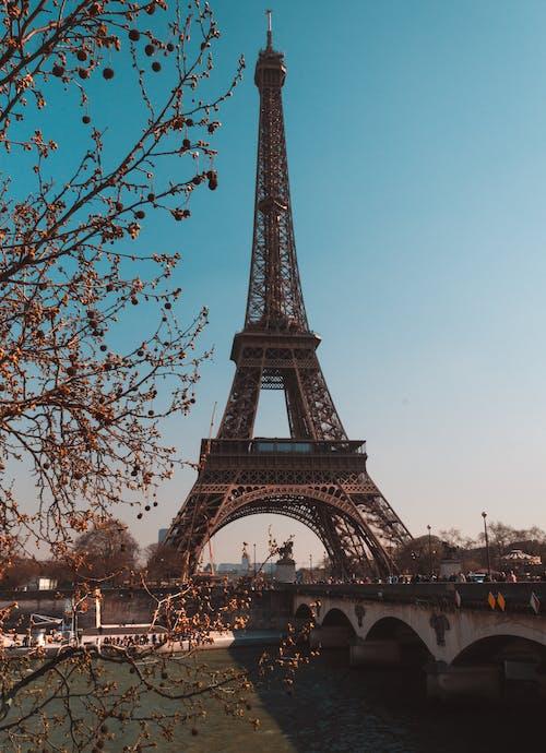 eiffel kulesi, Fransa, görülecek yer, Kent içeren Ücretsiz stok fotoğraf