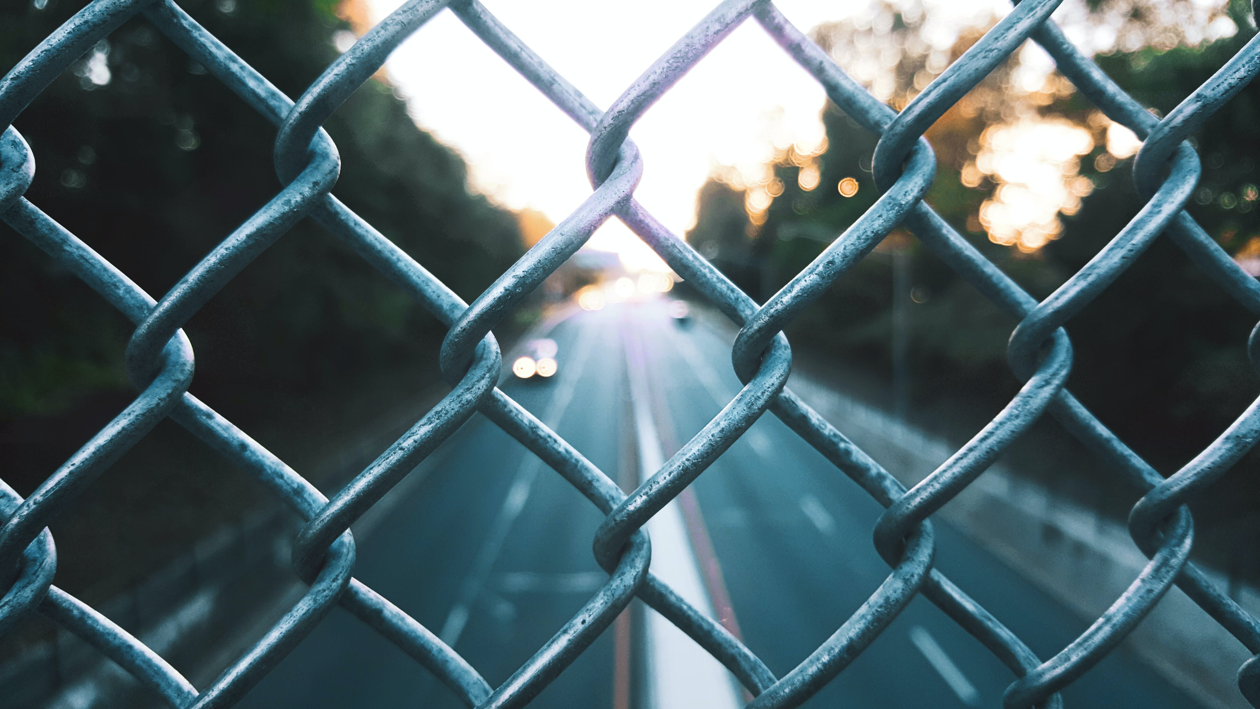 Close Up Photography of Chain Link Screen