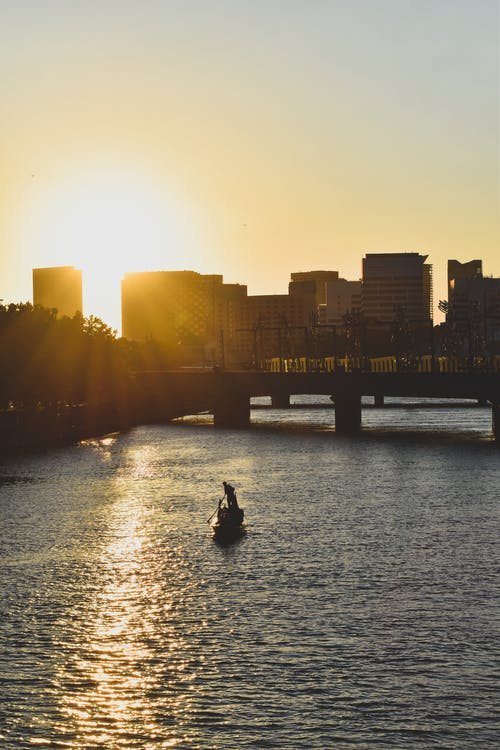 Free stock photo of background, Beautiful sunset, boat
