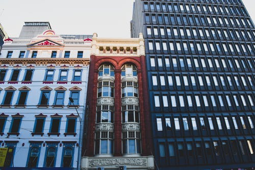 Free stock photo of apartment buildings, architectural design, architectural detail