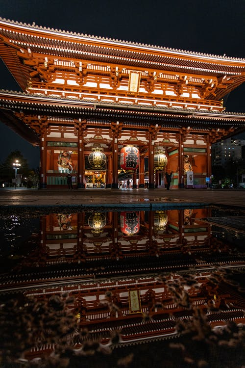 Architectural Photography of Brown Temple