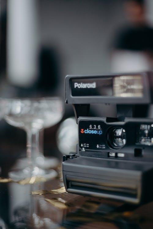 Grey Polaroid Camera