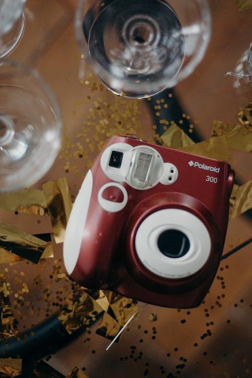Red Polaroid 300 Camera