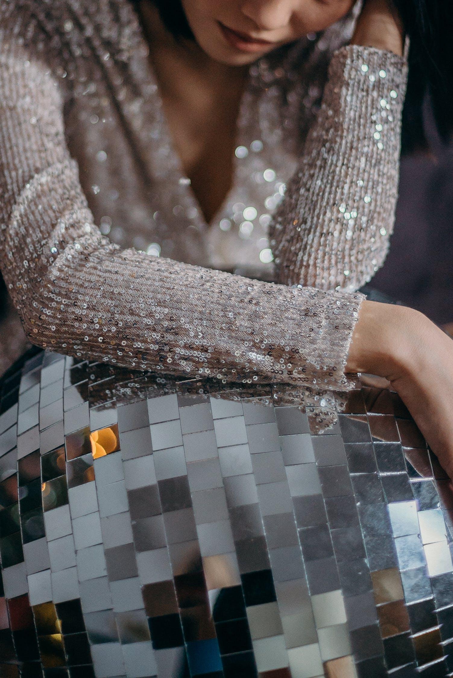 Základová fotografie zdarma na téma disko koule, glitter pozadí, móda