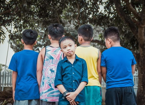 Free stock photo of asian children, group together