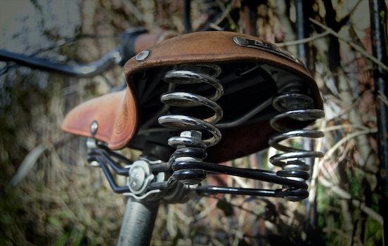 Free stock photo of metal, spring, blur, bike
