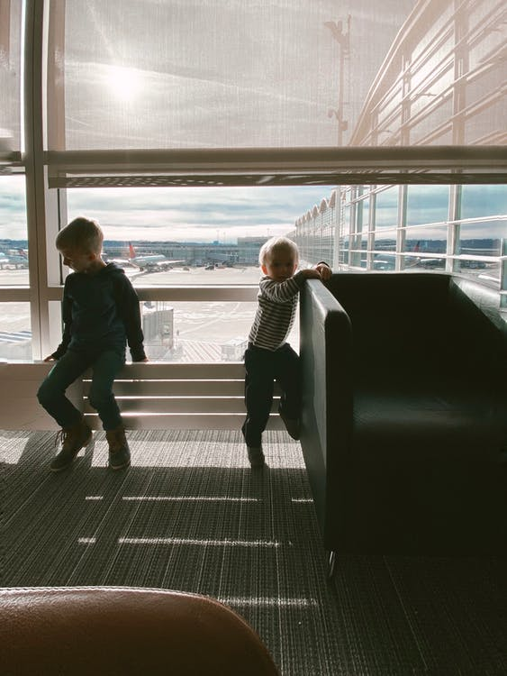 Kids at the airport - Family Travel Tips
