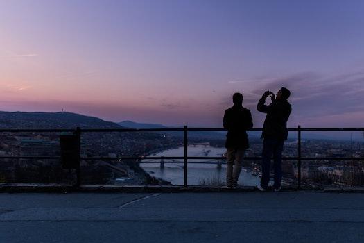 Free stock photo of sunset, vacation, friends, bridge