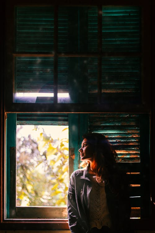 Free stock photo of against the light, old window, silhouette