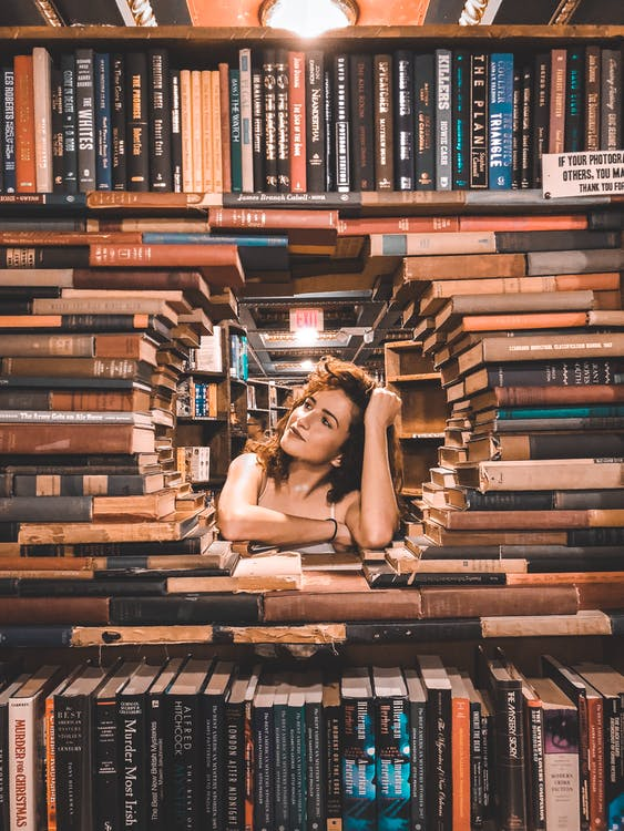 Pile of Books Formed Circle