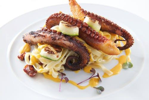 Základová fotografie zdarma na téma chobotnice, fotografie jídla, hlavní chod, jídlo
