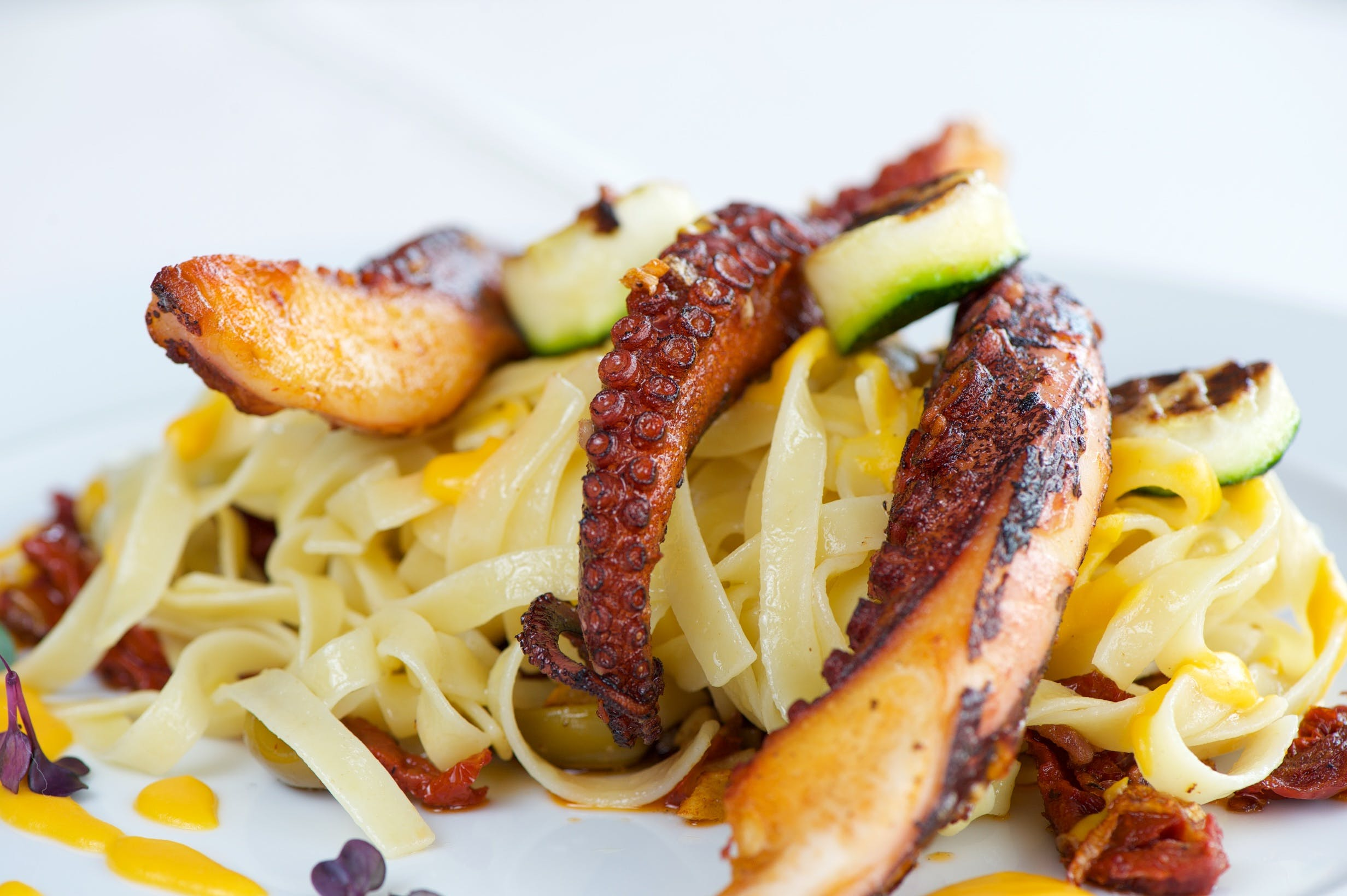 Free stock photo of food, pasta, food photography, octopus