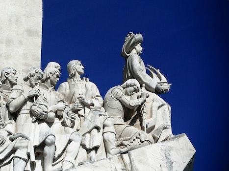 Group of Person Gray Concrete Statue