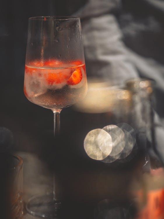 alcool, arrière-plan flou, bar