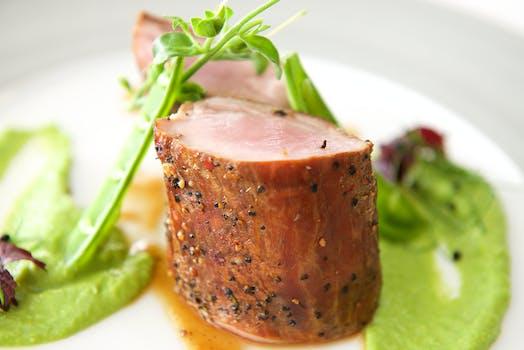 Tomahawk steak with salsa verde:
