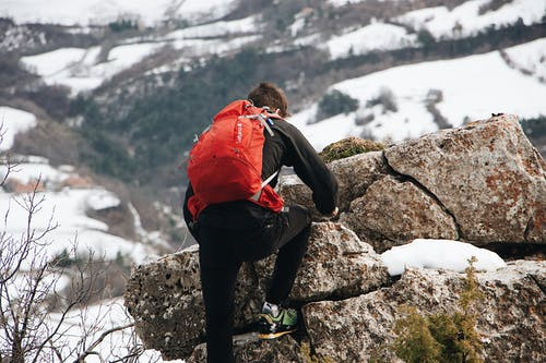 Man Hiking the Mountain Photograph