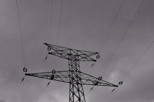 Fotos de stock gratuitas de archivos, cables, ciel, electricité