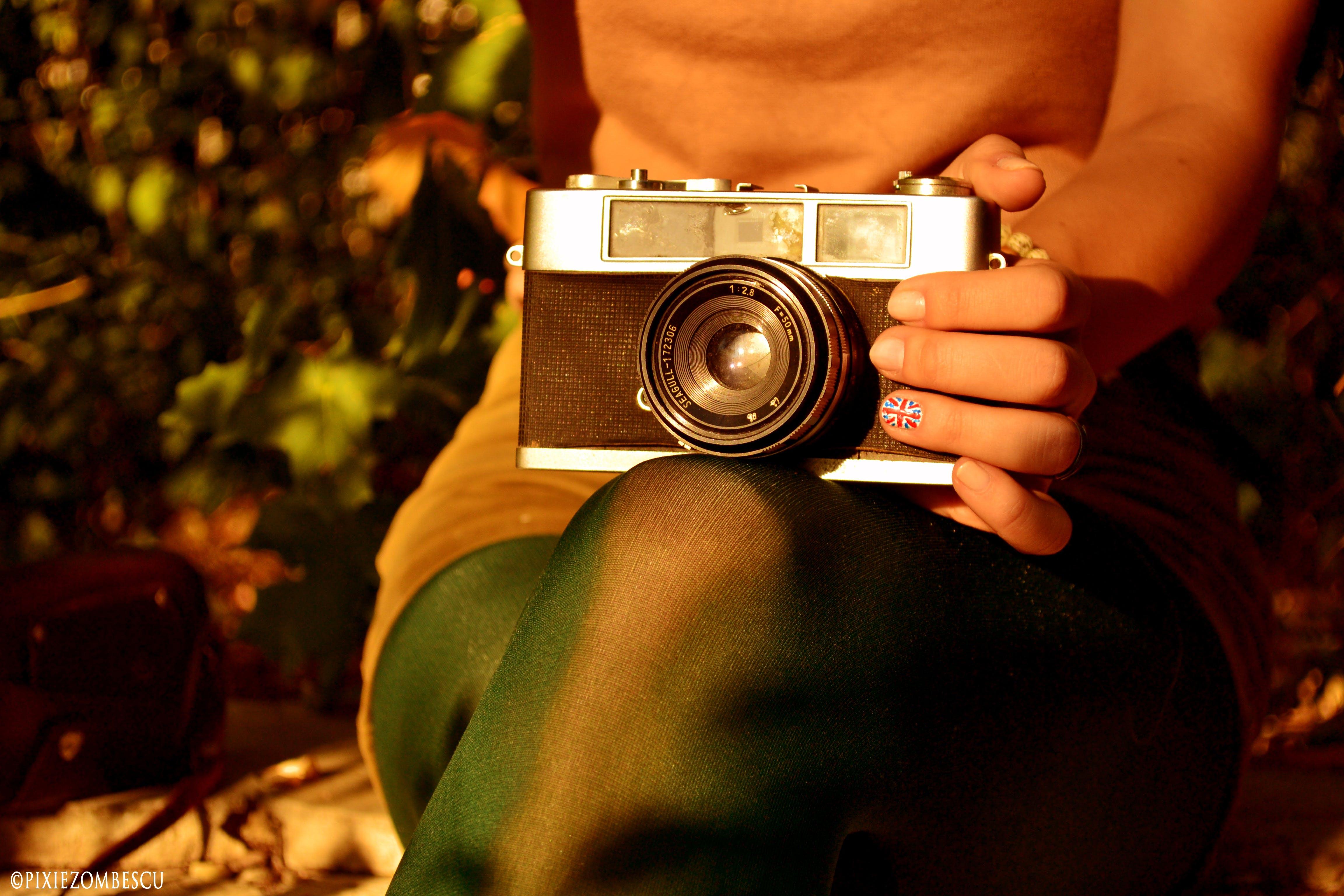 Free stock photo of autumn, camera, film, fun