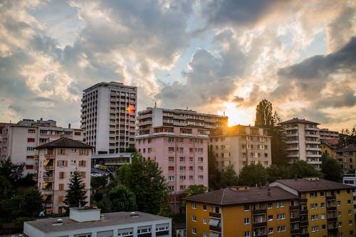 Imagine de stoc gratuită din apartamente, apus, arhitectură, cer