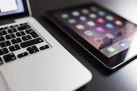desk, notebook, macbook