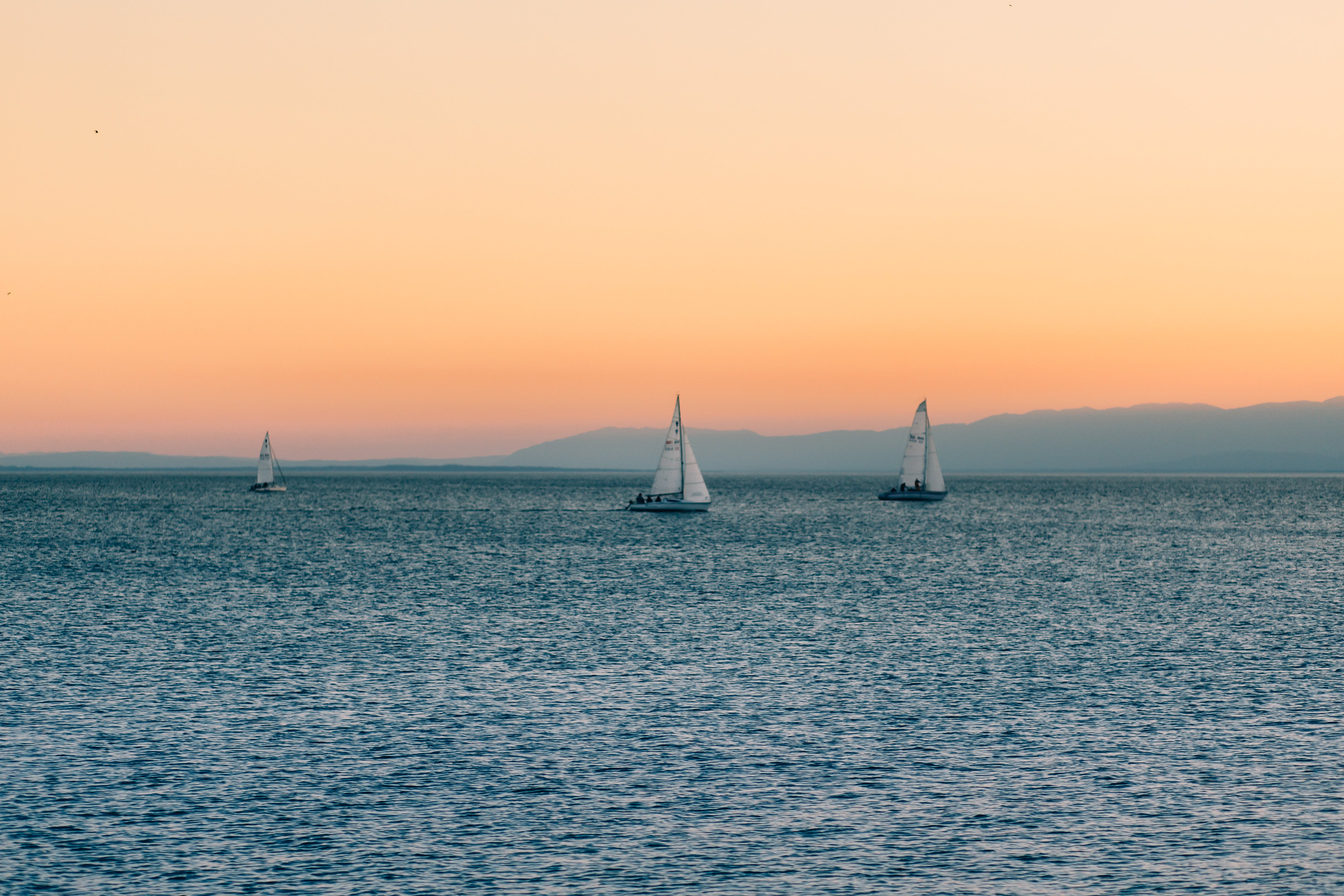 3 Sailboats on Water during Daytime