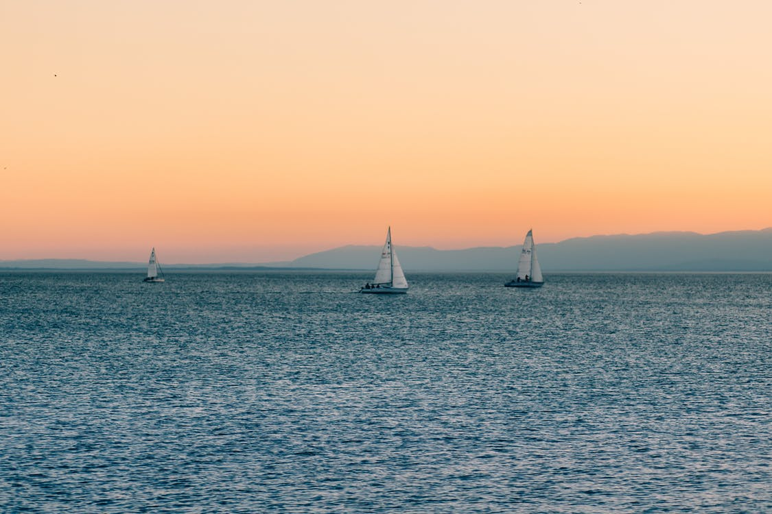 morze, ocean, statki