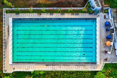 Бесплатное стоковое фото с бассейн, вид с квадрокоптера, джава барат, дневное время