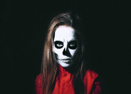 Woman With Skull Face Paint