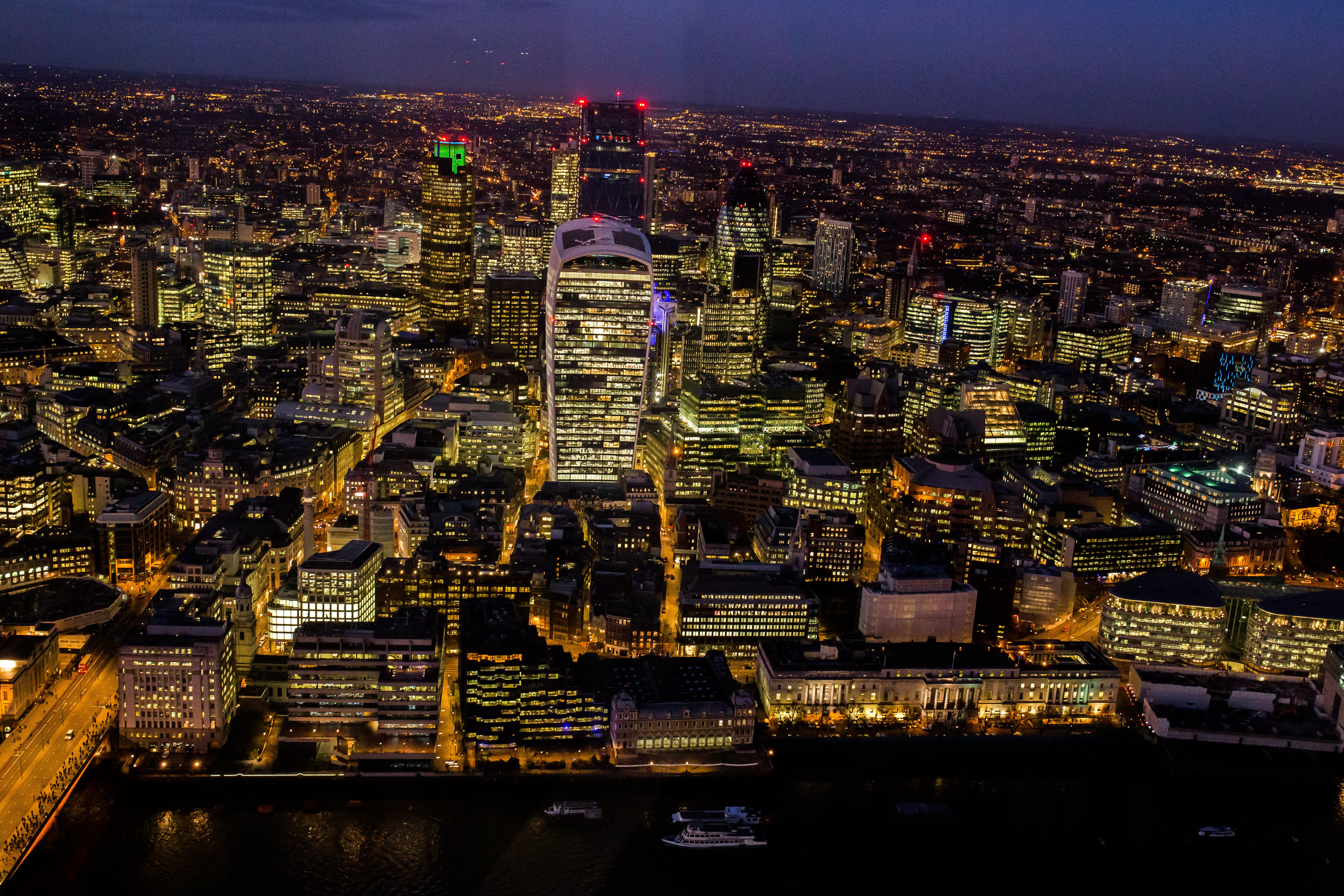 Aerial Photography of City Escape at Night