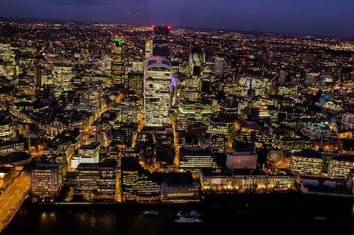 城市, 城市的燈光, 天際線, 市容 的 免费素材照片
