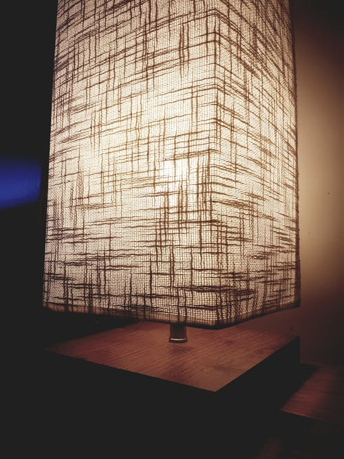 Lighted Brown Table Lamp