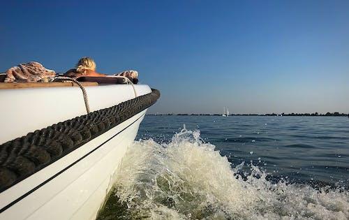 Základová fotografie zdarma na téma člun, jezero, modrá, obloha