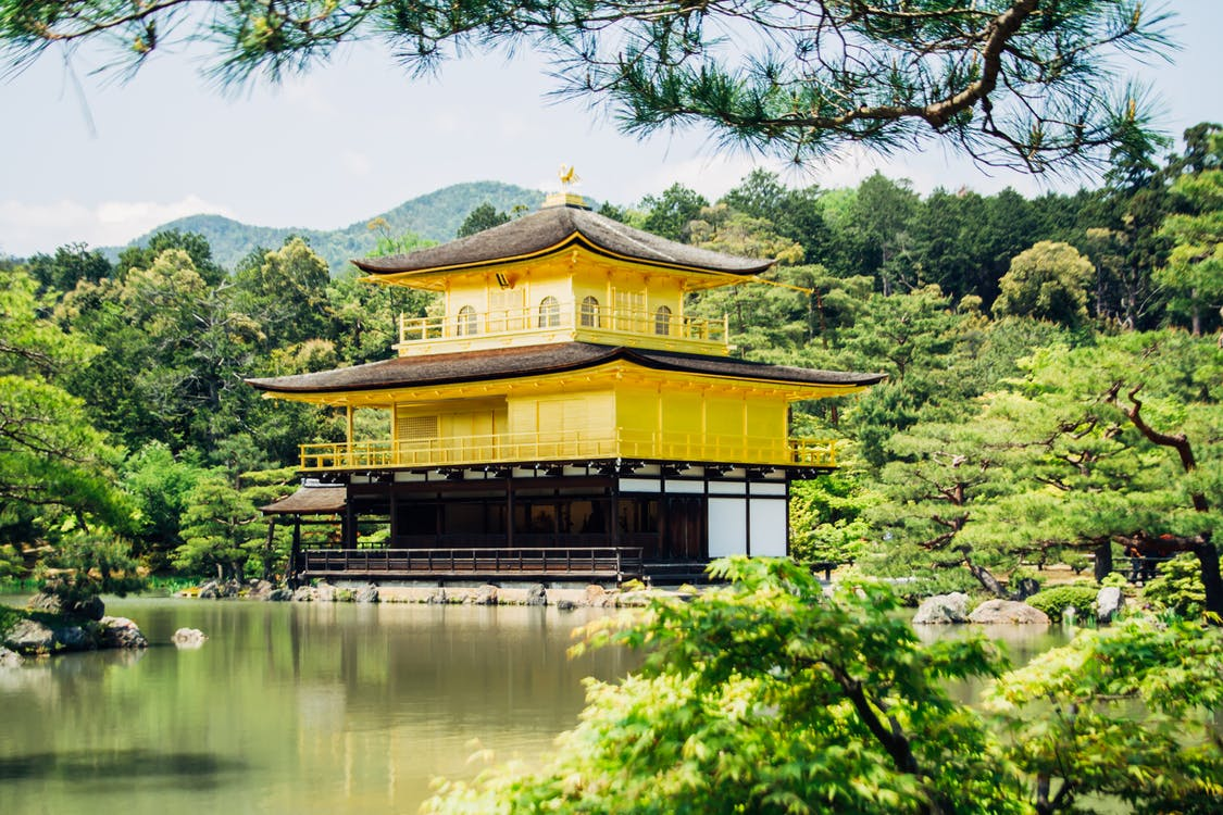 Pagoda Beside Tree's and River