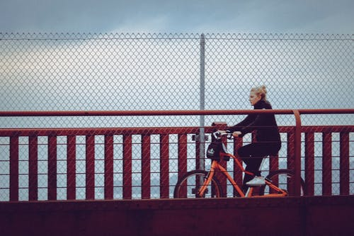 Free stock photo of bike, bike lane, california, sfo