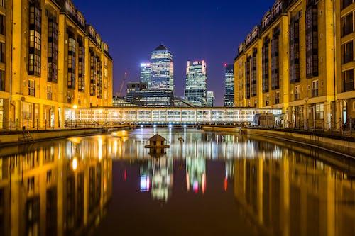Kostnadsfri bild av byggnader, horisont, lampor, lång exponering