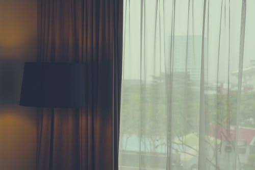 Free stock photo of apartment, bed, curtain, faded