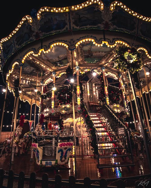 Free stock photo of adventure, carousel, christmas